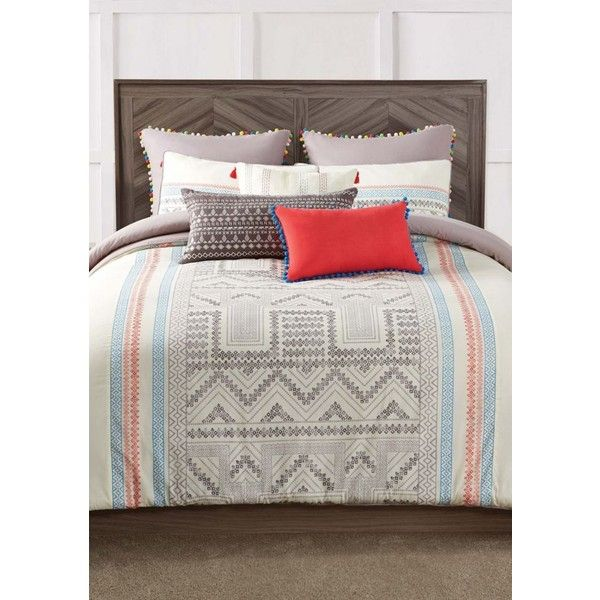Pem America Ab Margo King Comforter Miniset ($179) ❤ Liked On Polyvore  Featuring Home