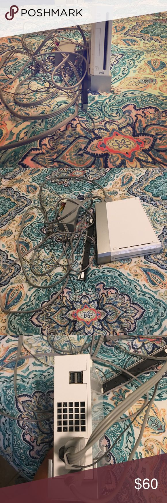 White Wii console White wii console in mid to almost new condition. It has been used a couple of times and works very well. Nintendo Other