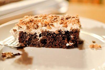 bday cakeBlessed, Cake Recipe, Cake Families, Bar Cake Had, Food Cake, Heath Bar Cake, S'Mores Bar, Bar Cake Mmmmmmmmmm, Bday Cake