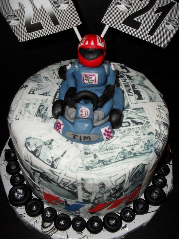 59 best Go Kart cakes images on Pinterest Anniversary cakes