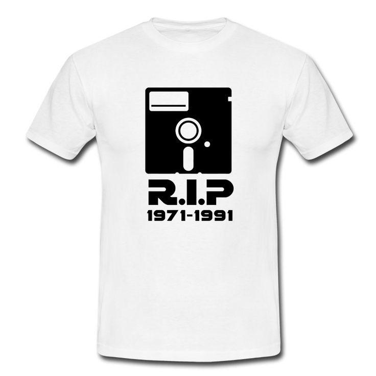 5,25 Zoll Diskette Rest in Peace RIP Tod Retro Nerd Geek T-Shirts - Männer T-Shirt
