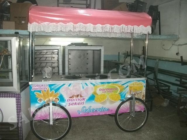 Çubukta Patates + Pamuk Şeker +Bardakta Mısır + Popcorn Arabası » - Sanayi tipi