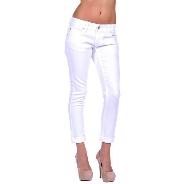 Dollhouse Cuffed Skinny Jean ($36) ❤ liked on Polyvore