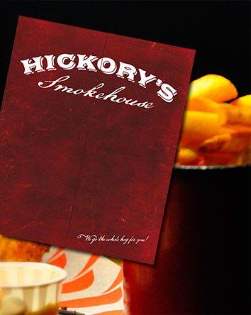 Our Client Portfolio: Hickory's Smokehouse Menu