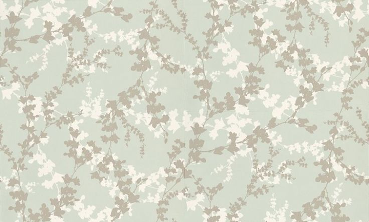 Hawthorn Eau De Nil (3466536) - Laura Ashley Wallpapers - An intricate design of delicate hawthorn trails in cream and metallic silver on a beautiful duck-egg blue background. Stunning and elegant style for your home. Additional colourways also available. Please request a sample for true colour match.