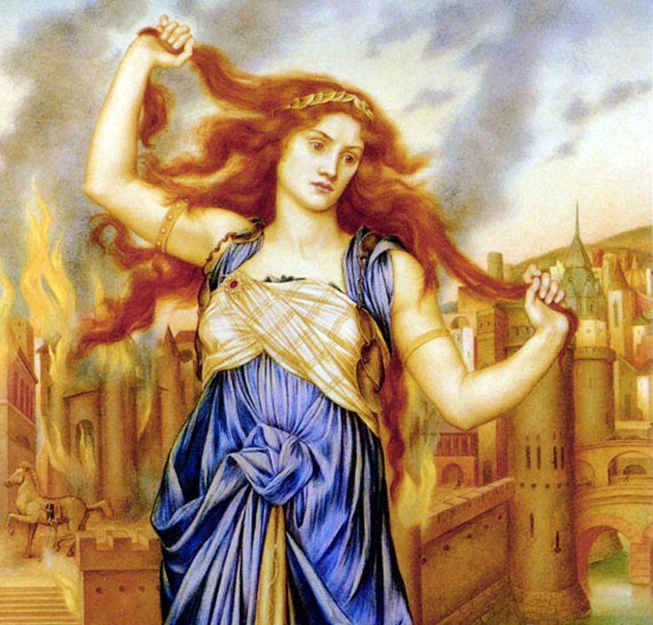 """Cassandra (Grieks: Κασσάνδρα; """"zij die mannen/mensen verstrikt/verwart"""") was een van de dochters van Priamus, de koning van Troje, en koningin Hecuba. Cassandra was zo mooi dat de god Apollo met haar het bed wilde delen. Cassandra stemde toe, maar wilde daarvoor in ruil de gave om de toekomst te kunnen voorspellen. Zodra Apollo haar wens had vervuld, weigerde Cassandra echter haar belofte na te komen."""