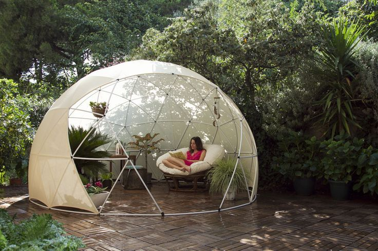 Garden Igloo with Canopy Cover