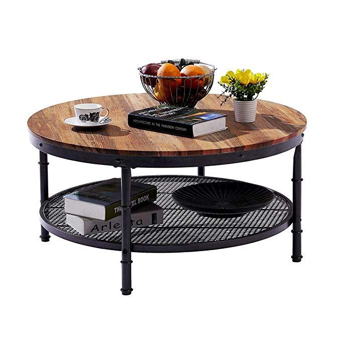 Amazon Com Greenforest Coffee Table Industrial Wooden Design