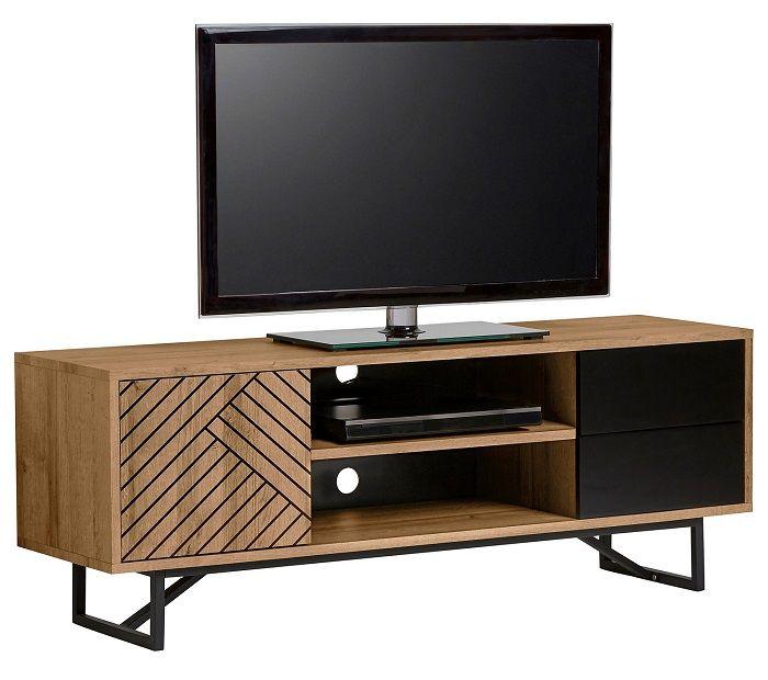 meuble tv ethnique edea bois et noir