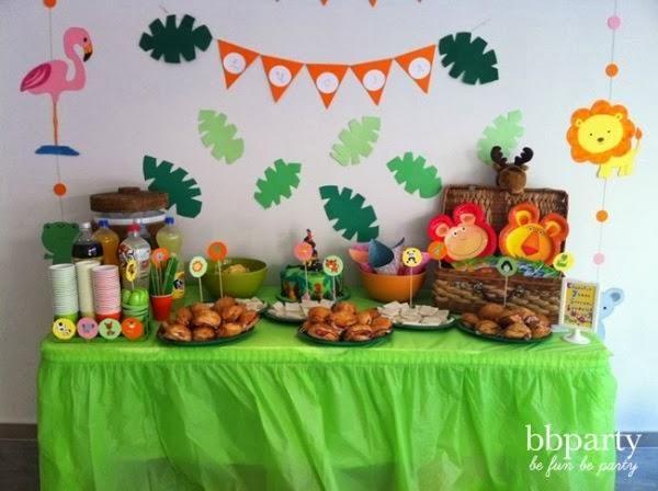 Ideas para una fiesta de cumple en la selva (II)