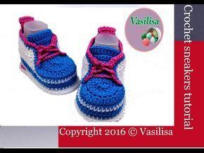 DIY Сrochet baby sneakers //Vasilisa - YouTube