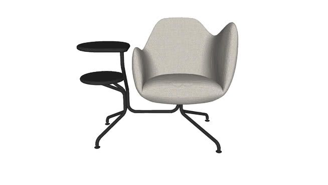 Large preview of 3D Model of Easy Chair Wilmer O56T