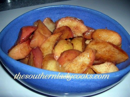 Tasty Skillet Fried Apples-Wonderful for breakfast on a fall morning or as a side dish anytime.