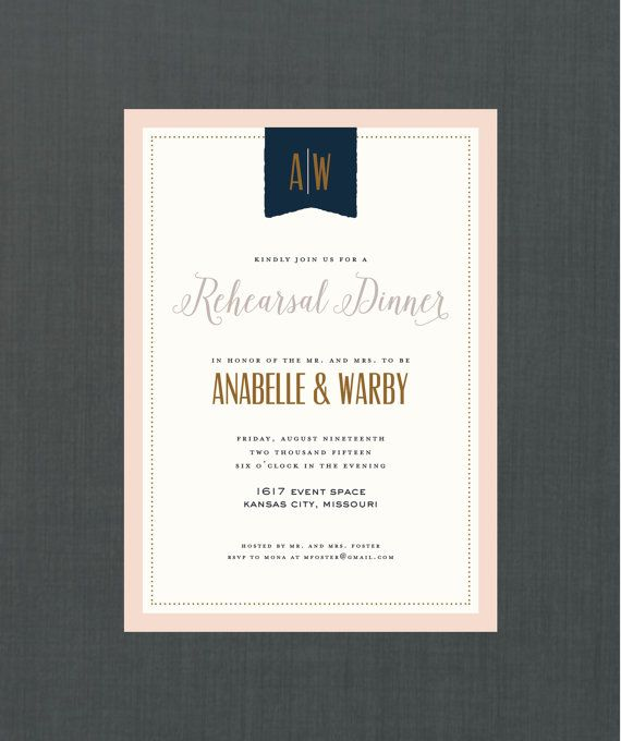 Vintage Banner Rehearsal Dinner Invitation // 5x7 DIY PRINTABLE // Vintage Wedding, Pastel Wedding, Elegant Wedding, Formal Invitation