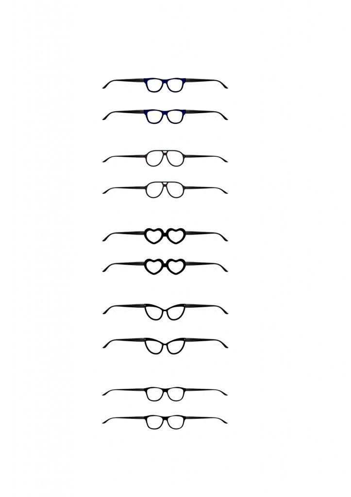 Molde de óculos para bonecas Barbie