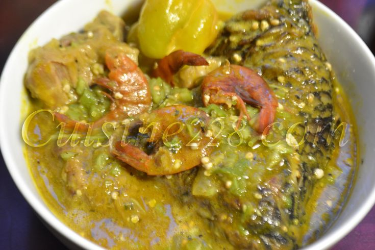 Sauce de gombo - okra Soup (cuisine africaine) - www.cuisine228.com