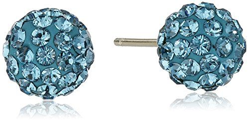 14k Yellow Gold Swarovski Elements Crystal Button Stud Earrings  http://stylexotic.com/14k-yellow-gold-swarovski-elements-crystal-button-stud-earrings/