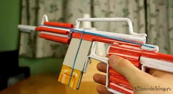 Как сделать из бумаги автомат M4,  который сможет стрелять