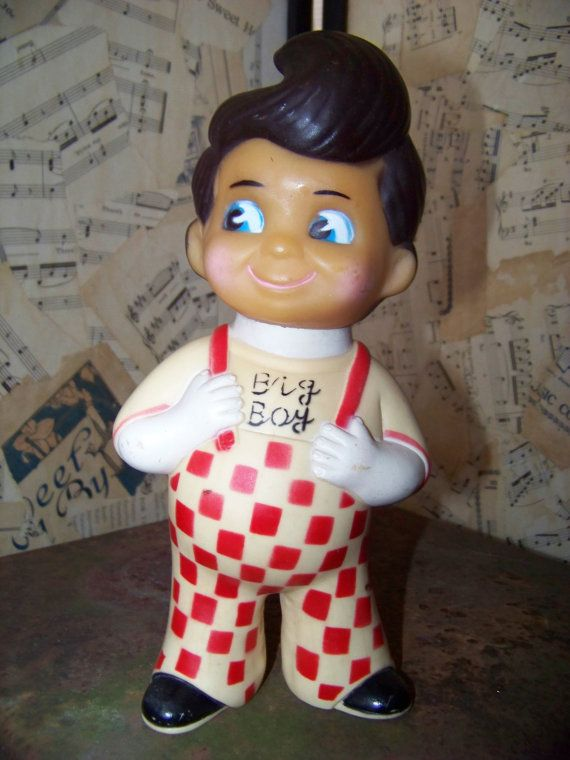 Vintage Bob's Big Boy Plastic Doll Bank1973 by AlloftheAbove