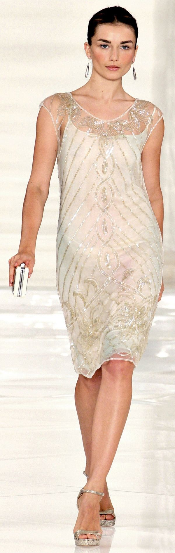 Ralph Lauren Spring Summer 2012 Haute Couture - 20's style beautiful dress and makeup