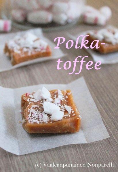 Vaaleanpunainen Nonparelli: Polkatoffee