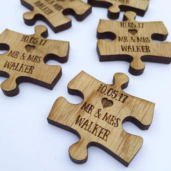Jigsaw Custom Wedding Favors  Puzzle Favors  Puzzle by MantaMakesLtd