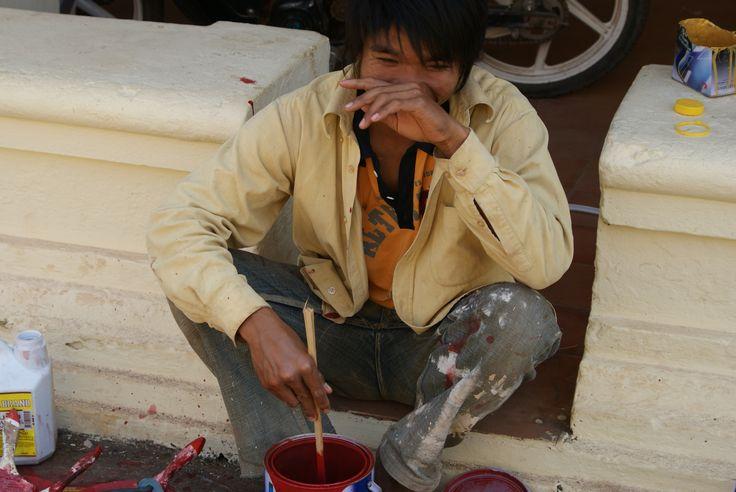 worker  Vientiane Laos