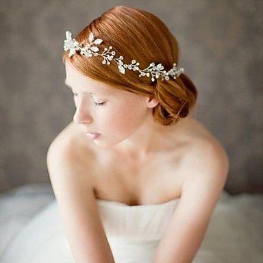 handgjorda rhinestone brudheadpiece kristall brud hår tillbehör bröllop / speciellt tillfälle pannband – SEK Kr. 421