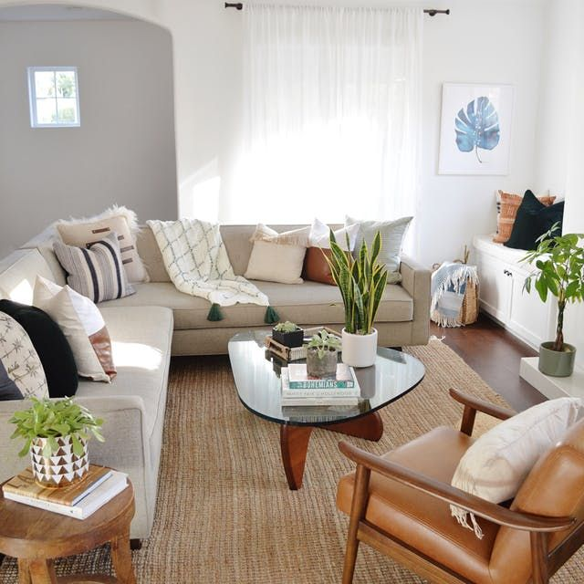 Cool Design For A Living Room: A Cool California Modern Boho Abode