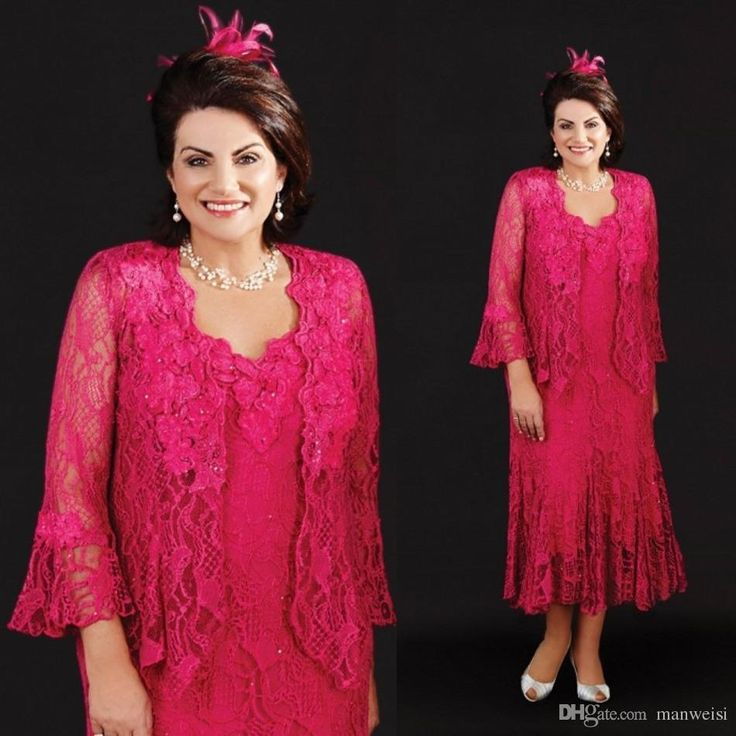 Ann Balon 2016 Mother Of The Bride Dresses Tea Length Full Lace Mother'S Wedding Gowns Beads Fuchsia Plus Size Mothers Groom Dress Mother Of The Groom Dresses Petite Mother Of The Grooms Dresses From Manweisi, $116.02| Dhgate.Com