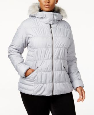 Columbia Plus Size Sparks Lake Faux-Fur-Trim Thermal Coil Puffer Jacket