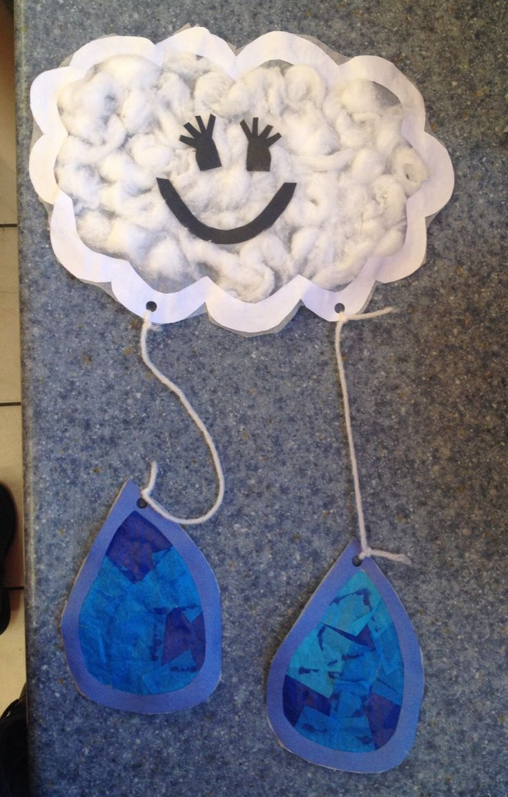 Weather Craft. To make this we used wax paper, cotton balls and blue tissue paper. Check out this fun project plus tons more in my weather unit on TPT.