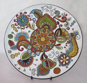 Phoenix plate ø40 Wall plate made and painted by hand, single piece. #artigianato #madeinitaly