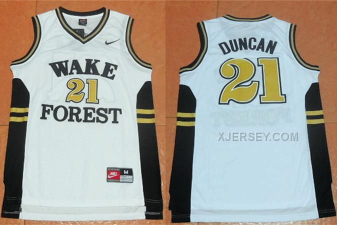 http://www.xjersey.com/wake-forest-demon-deacons-21-tim-duncan-white-college-jersey.html WAKE FOREST DEMON DEACONS 21 TIM DUNCAN WHITE COLLEGE JERSEY Only 34.06€ , Free Shipping!