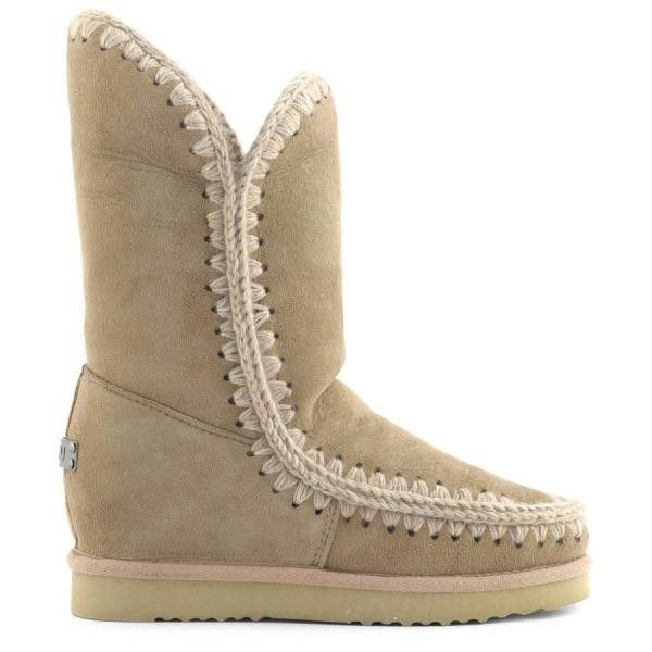 Mou Eskimo Wedge Tall Boots Camel - MOU