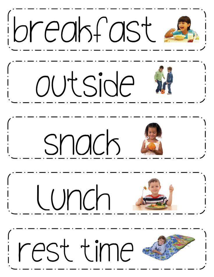 Printable Schedule Picture Cards for Preschool Classrooms- could easily make for home to prep for preschool