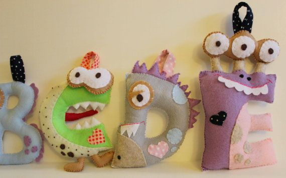Monster Letter E by CuteThoughts on Etsy