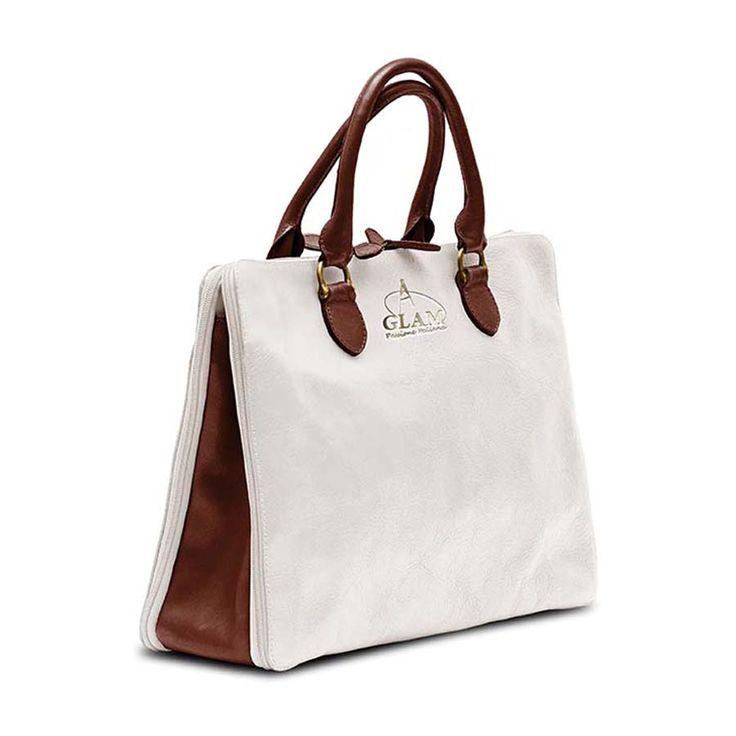 Shoulder Bag White-Brown