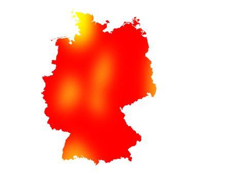 Pollenflug Birke in Deutschland bei wetter.com.