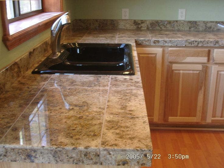 porcelain tile countertop - Google Search. (Ask mom: I don't want ceramic)