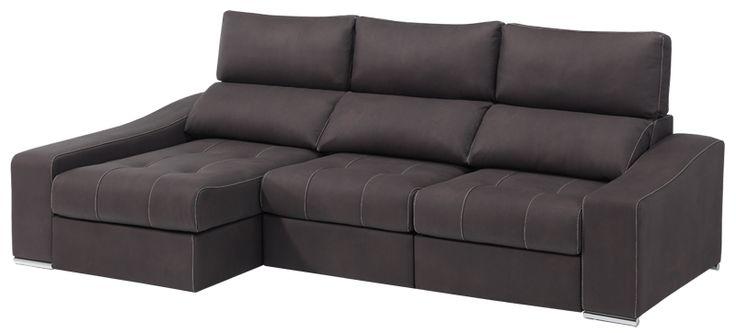 Modelo #Cosmic con asientos deslizantes y #chaiselongue #sofa