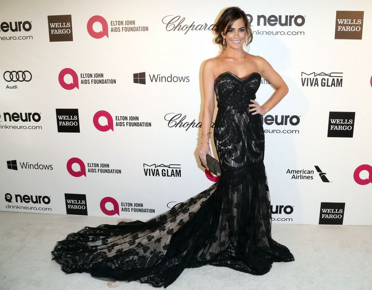 Elton John's Oscars Viewing Party, my amazing client actress Jillian Murray, I DIE for her look