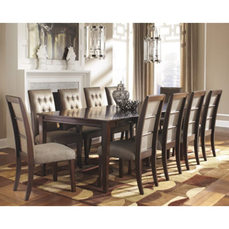 Piece Formal Dining Set With Leg Extension Table Picture