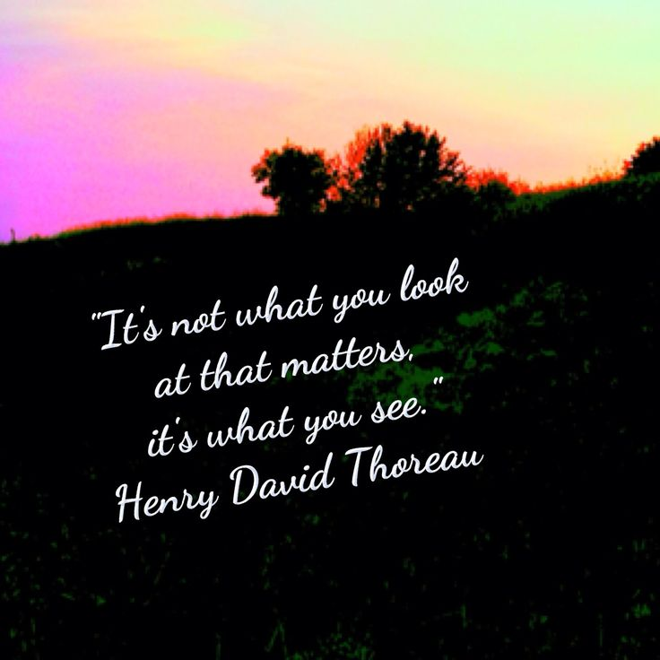 Nature Quote! Love Thoreau