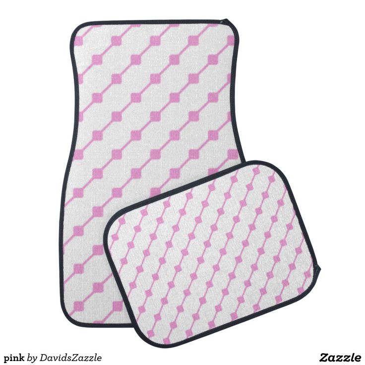 Pink Pattern Front and Rear Car Mat  Available on many more products! Type in the name of this design in the search bar on my Zazzle products page!   #abstract #art #pattern #design #color #accessory #accent #zazzle #buy #sale #car #auto #automotive #accessory #floor #mat #accent #living #modern #chic #contemporary #style #life #lifestyle #minimal #simple #plain #minimalism #square #line #white #pink
