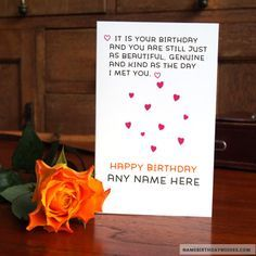 Awesome Happy Birthday Quote On Cards With Name