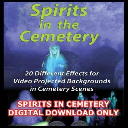 """SPIRITS IN CEMETERY DIGITAL DOWNLOAD - """"IN HIGH DEFINITION""""    Ghosts float around in a variety of Graveyards, meant for Back Wall, or Movie Screen type projection to make the """"horizon"""" view at the end of a Cemetery.    THIS DIGITAL DOWNLOAD IS WORLD-WIDE - NO SHIPPING REQUIRED    DVD CREATION - BURN THE *.MP4 FILES THAT YOU DOWNLOADED TO A SEPARATE DVD, PLACE IT IN YOUR DVD PLAYER AND YOUR GOOD TO GO -YOUR DVD PLAYER """"MUST SUPPORT"""" *.MP4 FILES.    USB FLASH DRIVE - COPY THE *.MP4 FILES…"""