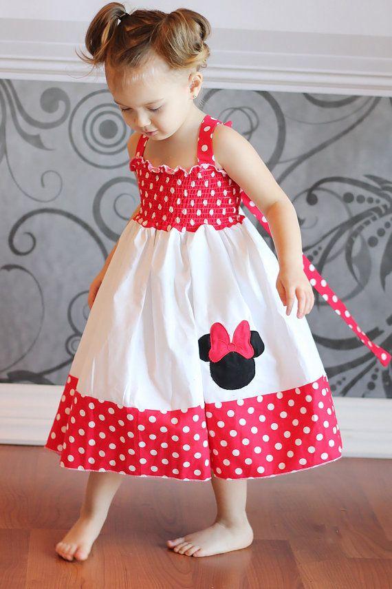 Custom Boutique girls Minnie Mouse dress by littlebeansboutique, $35.00