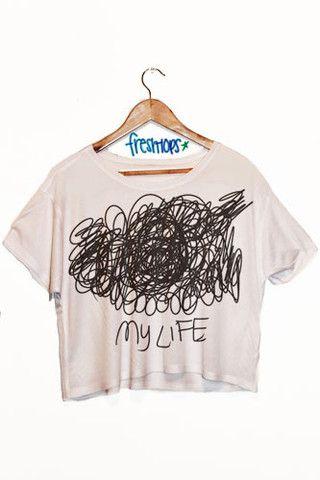 My Life Crop Shirt - Fresh-tops.com