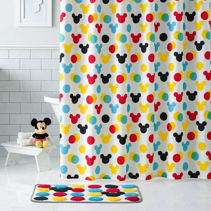 Mickey Mouse Fabric Shower Curtain Mickey Mouse Bath Towels